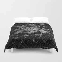 montreal map Duvet Cover
