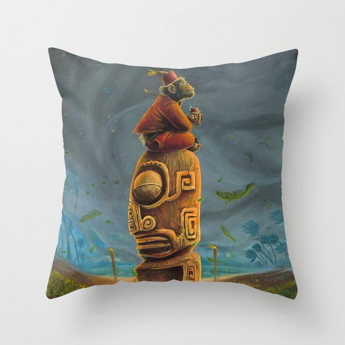 Koshi Greets The Storm Throw Pillow