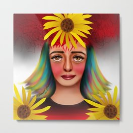 Flowers Still Bloom Metal Print