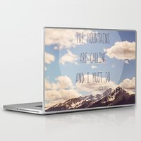the mountains are calling Laptop & iPad Skins featuring the mountains are calling by shannonblue