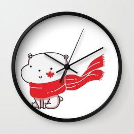 Canadian Polar Bear Wall Clock