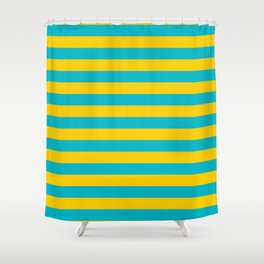 Kazakhstan flag stripes Shower Curtain