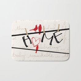 Home Letters Red Bird Clothesline A712 Bath Mat