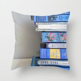 Shelfie in Blue 1 Throw Pillow