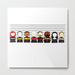 ST: TNG Police Lineup Metal Print