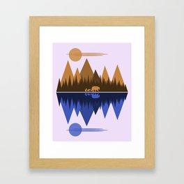 Bear & Cubs Framed Art Print
