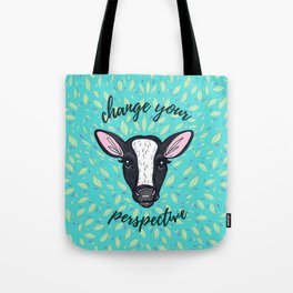 Change Your Perspective White Blaze Tote Bag