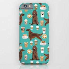 Irish Setter coffee latte dog breed cute custom pet portrait for dog lovers iPhone Case
