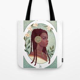 art nouveau portrait Tote Bag
