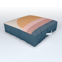 Minimal Retro Sunset - Neutral Outdoor Floor Cushion