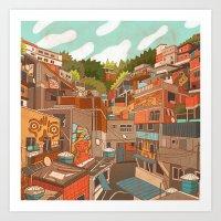 Favela Art Print