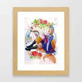 Capricorn zodiac sign Framed Art Print