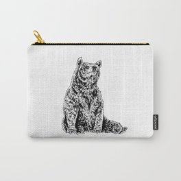 Bear Sitting Carry-All Pouch