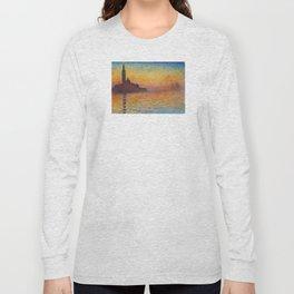 Claude Monet San Giorgio Maggiore at Dusk (Venice) Long Sleeve T-shirt