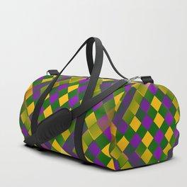Harlequin Mardi Gras pattern Duffle Bag