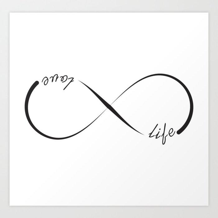 Temporary tattoo infinity symbol 'Love Life' - Tattoorary |Infinity Symbol Love Life