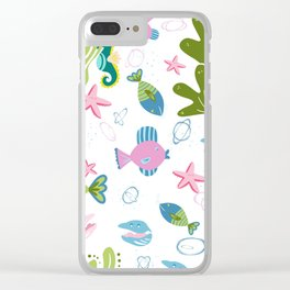 On The Bottom of The Sea Clear iPhone Case