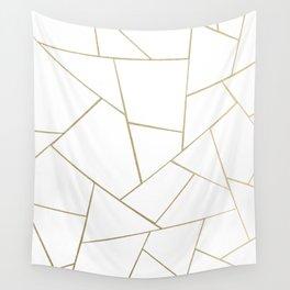 Gold White Geometric Glam #1 #geo #decor #art #society6 Wall Tapestry