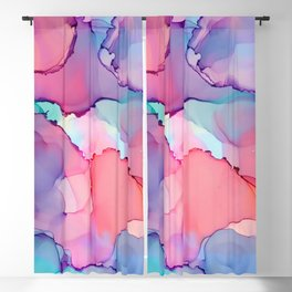 Alcohol Ink - Juicy Blackout Curtain