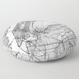 New York City Map of United States Floor Pillow