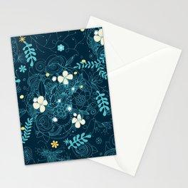 Dark floral delight Stationery Cards