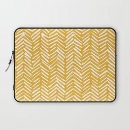 Boho Mudcloth Pattern, Summer Yellow Laptop Sleeve