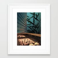 aquarius Framed Art Prints featuring Aquarius by David Delruelle