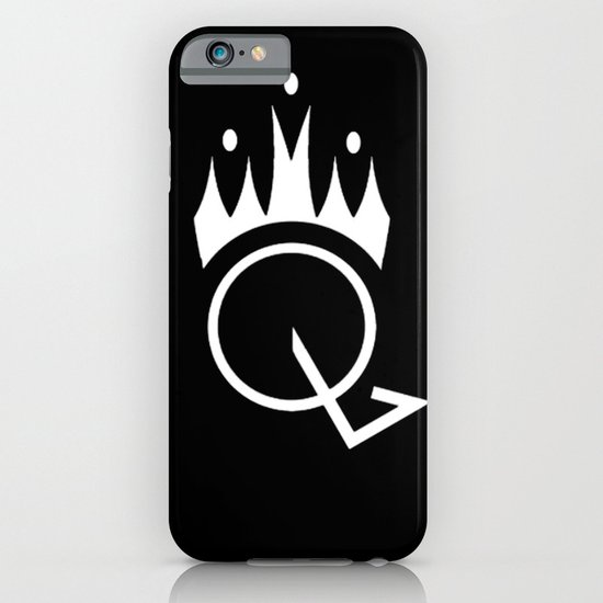 Q is for Queen (black) iPhone & iPod Case