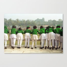 Indian school girls Canvas Print