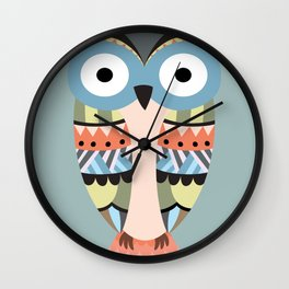 tribal owl Wall Clock