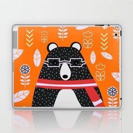 Bear in floral rain Laptop & iPad Skin