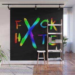 FXCK HXTE - Rainbow Paint 2 Wall Mural