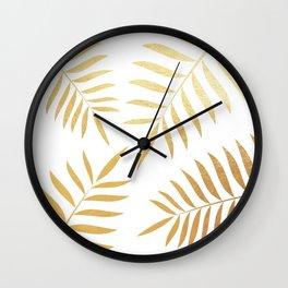 goldpalmleaves Wall Clock