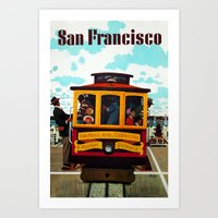 Vintage San Francisco Travel  Art Print