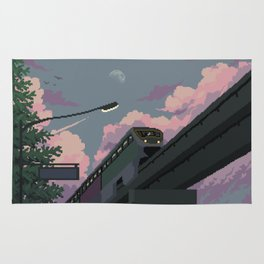 Moonrise Train Rug