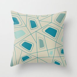 Mid-Century Pattern No. 83 Throw Pillow