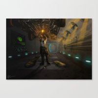 engineer Canvas Prints featuring Engineer. by Sandy