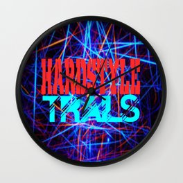 hardstyle trails Wall Clock