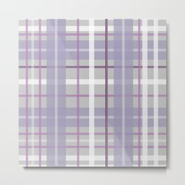 Texture purple white stripes gift Metal Print