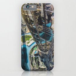 Dubai from the tallest building in the world iPhone Case