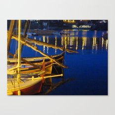 Night in the Harbour Canvas Print