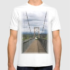 Across the Bridge and Beyond White MEDIUM Mens Fitted Tee