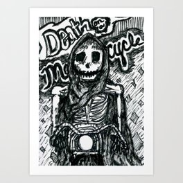 Death on a Motorcycle Art Print