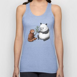 Panda Friends Unisex Tank Top