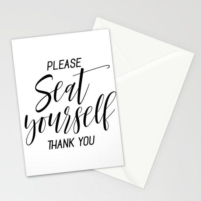 Printable Please Seat Yourself Thank You Wall Art, Funny Bathroom ...