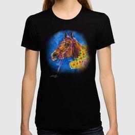 Secretariat Painting, Large Race Horse Watercolor Art T-shirt