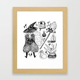 Witch's toolbox Framed Art Print
