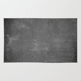 Gray and White School Chalk Board Rug