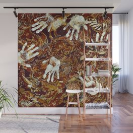 Primitive Cave Painting Wall Mural