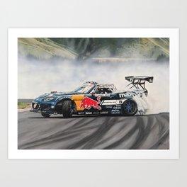 Mad Mike Drift Car Art Print
